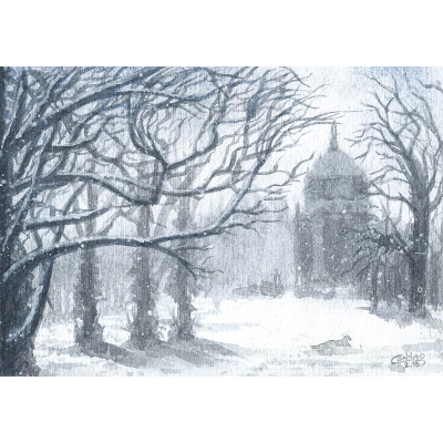 Postkarte Potsdam Winter