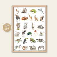 ABC Poster - Tiere A2