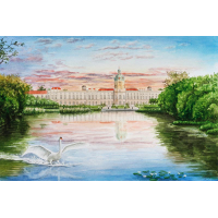 Aquarell Schloss Charlottenburg