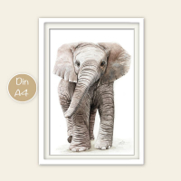 Fineart Tierposter - Elefant