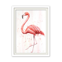 Fineart Tierposter - Flamingo