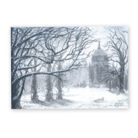 Postkarte - Winter am Neues Palais