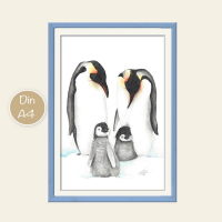 Pinguine Aquarell
