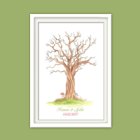 Poster Wedding-Tree